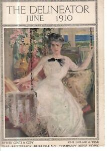 1910 Delineator Cover (only) June  with rare Cream of Wheat - Becky I Know him
