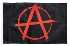 Anarchy Anarchie rot Banner anarchistische Fahnen Flaggen 30x45cm