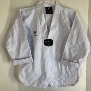 Taekwondo White V Neck Uniform Gi Top for Karate or Tae Kwon