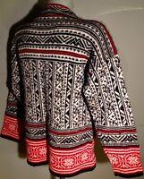 MEXX Luxus SCHURWOLLE 💯% Pullover Norweger Muster Wie Neu ❗️