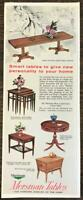 1962 Mersman Tables Celina, Ohio Print Ad The Costume Jewelry of the Home