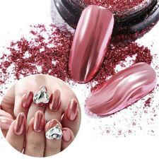 0.5g Mirror Glitter Rose Gold Nail Art Powder Dust Metallic Pigment Chrome Tips