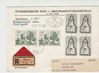 Austria 1967 Wien Cancels Registered FDC Multiple Monument Stamps Cover Ref27499