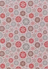 10 x A4 Snowflake Circles Pattern CARD STOCK 300gsm NEW