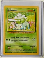 BULBASAUR 44/102 Vintage ENGLISH Base Set Pokemon NEAR MINT CONDITION Card