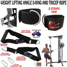 Austodex Tricep Bicep Rope Cable and Weight Lifting D-Ring Pulley Cable