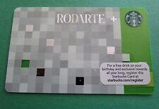 Starbucks Card  *** RODARTE 2013 *** - Retired, Rare and HTF - MINT, Pin Intact