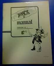 Exidy FAX Arcade Video Game Manual - good used original