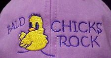 Adams Purple Bald Chicks Rock Baseball Hat Chemo Plum Cancer Awareness New