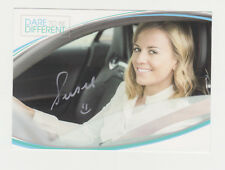 Susie Wolff Williams Mercedes DTM F1 Woman Card Hand Signed Autoghraph Postcard