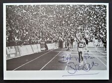 OVETT STEVE GT BRITAIN 800m OLYMPIC GOLD MEDAL 1980 SIGNED PROMOPHOTO