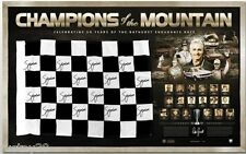 BATHURST CHAMPIONS OF THE MOUNTAIN HAND SIGNED FLAG HOLDEN FORD BROCK LOWNDES