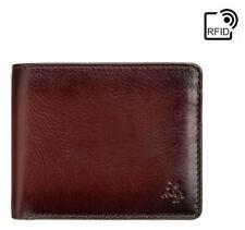 Visconti Burnished Tan Leather RFID Blocking Mens Bifold 4 Card Wallet AT60