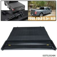 For 04-08 FORD F150 Pickup Truck 6.5ft Bed Soft Four-Fold Tonneau Cover Black