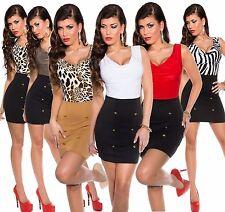 Sexy Minikleid Partykleid Businesskleid Wasserfall, leoprint S-M-L 34-36-38-40