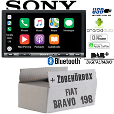 Sony Radio für Fiat Bravo 198 Bluetooth DAB+ Apple CarPlay Android Auto USB Set