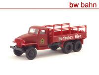Roco miniatur H0 1631 GMC Herkules Bier / CCKW 353 2,5 t 6x6 Truck Jimmy Neu