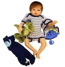 """Full Body silicone reborn Baby Boy Doll 22 """" soft vinyl Lifelike Dolls Clothes"""
