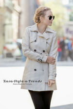 Size XS - NWT ZARA COTTON TRENCHCOAT DOUBLE BREASTED TRENCH COAT JACKET BLAZER