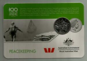 2016 UNC 20c ANZAC To Afghanistan Legacy Peacekeeping Coin Card