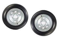 2-Pack Trailer Tire On Rim 480-12 4.80-12 LRB 4 Lug Galvanized Spoke Wheel