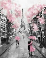 Usa - Diy Paint by Number Kit Acrylic Painting Home Decor - Pink in Paris
