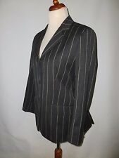 KINGMAN OF SAVILE ROW STRIPED BOATING  BLAZER  SIZE  UK 16  BRITISH MADE