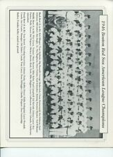 1946 Boston Red Sox Team Picture hand out from Fenway Park 8 1/2 X 11