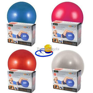 65 CM GYM YOGA BALL EXERCISE SWISS FITNESS PREGNANCY BIRTHING ANTI BURST + PUMP