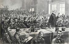 Trial Of Charles Jules Guiteau. Scene In Court.  Wood Engraving, 1881.