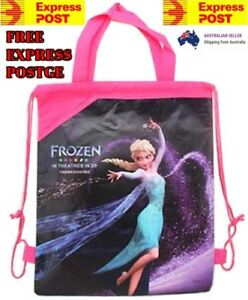 New Frozen Children Kids Drawstring Backpack School Swimming Bag Sleeve Hand