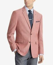 $325 TOMMY HILFIGER Men MODERN-FIT RED WHITE JACKET BLAZER SPORT COAT SUIT 46 R