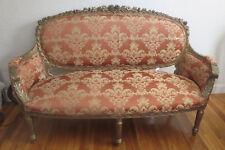 """Antique Large 70"""" Louis Xvi Settee Sofa"""