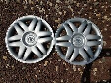 """Pair of 2 New 2000 00 2001 01 Camry 15"""" Hubcaps Wheel Covers 61104"""