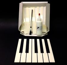 German Piano Keytops No Fronts, Full Set Of 52, 50mm Head, Light Cream, w/Glue