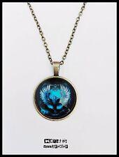 Collar Bronce Emblema Ravenclaw Colgante Águila Harry Potter Complemento Magia