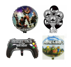 VIDEO GAME - CONTROLLER  BALLOONS - FOIL & LATEX - GREAT PARTY DECORATIONS