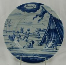 """DELFT HOLLAND METROPOLITAN MUSEUM OF ART MONTH OF THE YEAR JANUARY PLATE 9"""" MMA"""