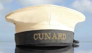 CUNARD WHITE STAR LINE RMS QUEEN MARY ERA ORIGINAL CREW SAILORS CAP C-1950'S