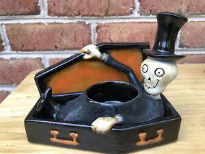 Yankee Candle Coffin Boney Bunch Tealight Holder Skelton