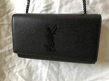 AUTHENTIC Medium YSL Saint Laurent Monogram Kate Chain Shoulder HandBag
