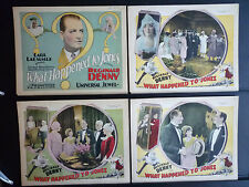 1926 WHAT HAPPENED TO JONES - RARE FULL 8 LOBBY CARD SET - SILENT - GAY TRANS