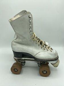 Vintage Betty Lytle Hyde White Roller Skates Women's 6