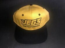 Jegs High Performance Hat Cap Black Yellow Classic Car Store Modification