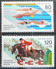 Germany Berlin stamps  - Swimming and riding_1986 - MNH.