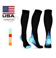 Compression Socks Mens Womens Running Graduated Support 20-30 mmHG Size S-X/XL