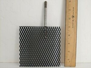 "(Ir-Ru) MMO Titanium Mesh Anode, 5"" x 5"" with stem handle"