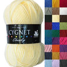 Cygnet Chunky 100g 100% Arylic Knitting Yarn. Full Range Of Colours
