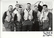 RAF Spitfire Battle of Britain pilot FORD 41 Squadron personally signed photo