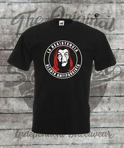 T-Shirt Größe S - 4XL La Resistencia Alerta Antifascista FCK NZS Antifa 161 AFD
